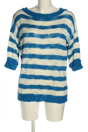 Terranova Maglione lavorato a maglia bianco sporco-blu motivo a righe