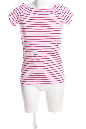 Terranova T-Shirt weiß-rot Streifenmuster Casual-Look