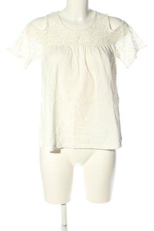 Terranova T-Shirt weiß Webmuster Casual-Look