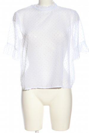 Terranova Blusa trasparente bianco elegante