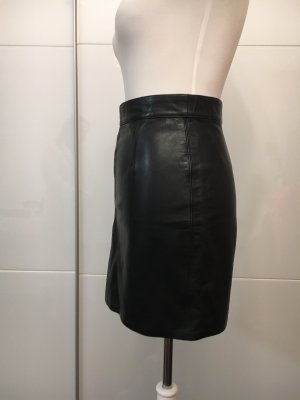 Terry Leather Skirt black