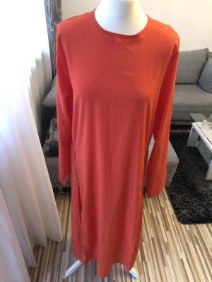 Maxi abito arancione-oro