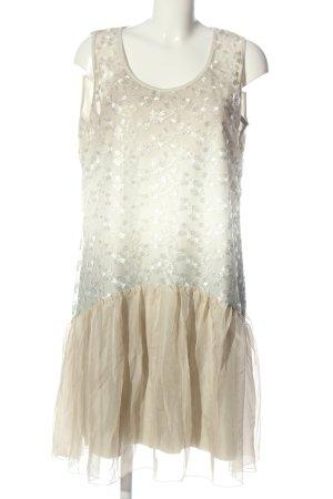 Tesini Linea Cocktailkleid weiß-wollweiß Elegant