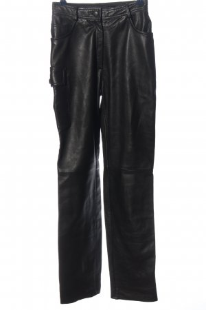 Tesini Linea Leather Trousers black casual look