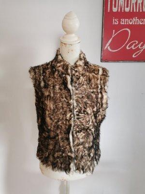 Fur vest multicolored mohair