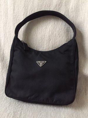 Prada Mini Bag black-silver-colored nylon