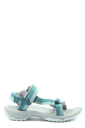 Teva Outdoor-Sandalen weiß-hellgrau Streifenmuster Casual-Look