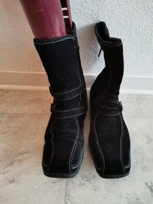 tex Bottes à lacets noir mohair