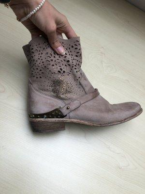 Texaner Boots Stiefeletten Leder Swarovski