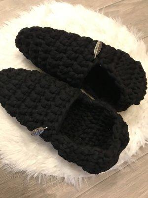 selfmade Pantoufles-chaussette noir