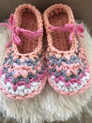 Handmade Slipper Socks multicolored