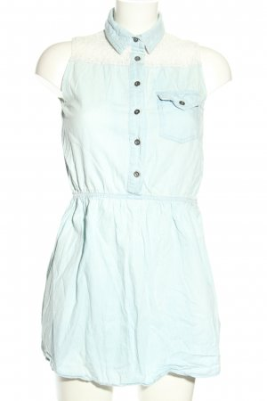 Tezenis Denim Dress turquoise-white casual look