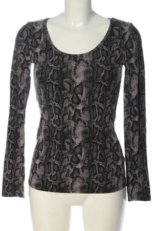Tezenis Longsleeve black-light grey animal pattern casual look