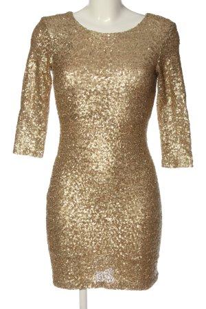 TFCN London Robe à paillettes doré style décontracté