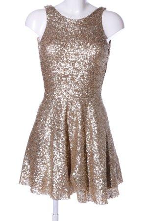TFNC A-Linien Kleid goldfarben Elegant