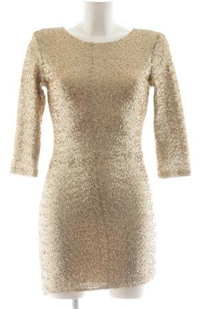 TFNC Abendkleid goldfarben extravaganter Stil