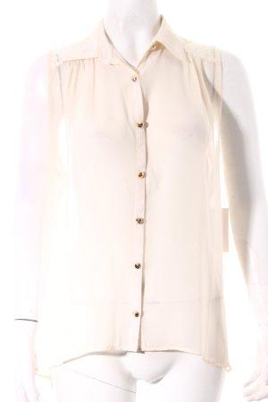 TFNC Blusa senza maniche crema stile casual