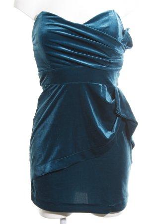TFNC Abito a fascia blu-verde elegante