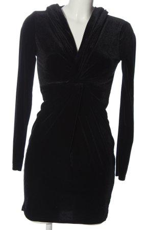 TFNC Robe à capuche noir style décontracté