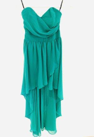 TFNC Robe bas asymétrique bleu cadet-vert