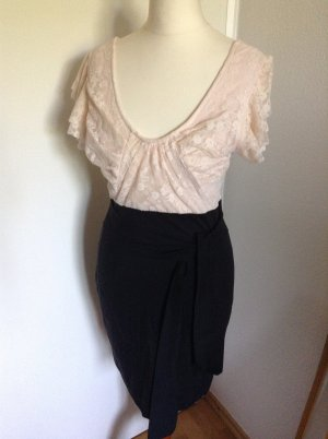 TFNC Kurzes Kleid rosa/schwarz mit Spitze, Gr. 34, wie neu