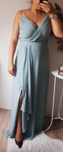 TFNC London Abendkleid blau grau 42(14) NEU