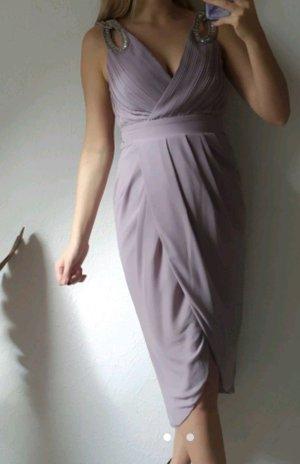 TFNC London Abendkleid mave grau Lila 36 neu
