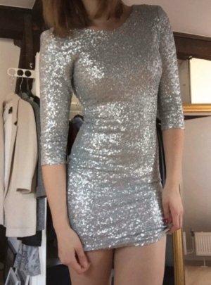 TFNC London • Kleid mit silbernen Pailetten Gr. 36