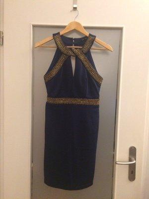 TFNC London Tolles Kleid mit Statement Schmuck Kragen Gold Gr. 34/XS Neu mit Etikett NP 70€