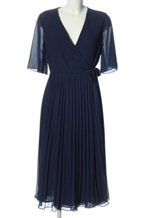 TFNC London Vestido cruzado azul elegante