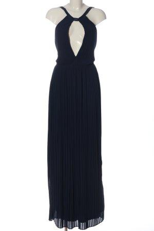 TFNC Vestido largo azul elegante