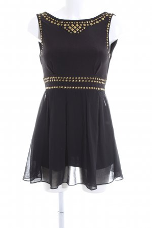 TFNC Minikleid schwarz-goldfarben Elegant