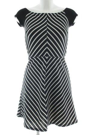 TFNC Minikleid schwarz-weiß Streifenmuster Casual-Look