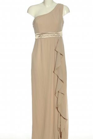 TFNC One Shoulder Dress nude-gold-colored wet-look