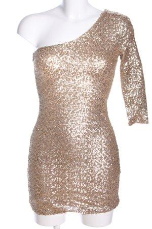 TFNC One-Shoulder-Kleid goldfarben Elegant