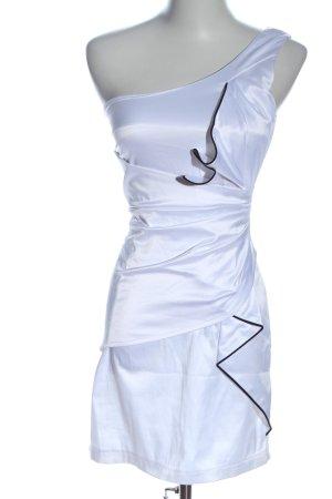 TFNC Vestido de un hombro blanco-negro elegante