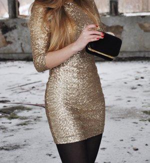 TFNC • Pailetten Kleid Silber Gr. 36