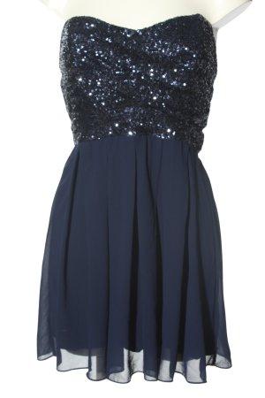 TFNC Cekinowa sukienka niebieski Elegancki