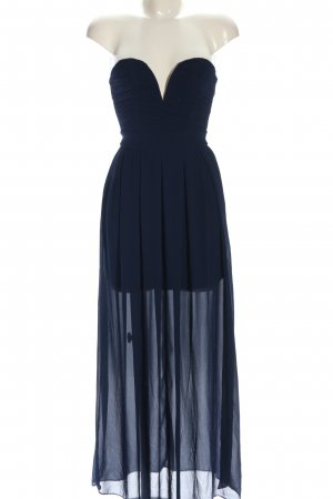 TFNC schulterfreies Kleid blau Elegant