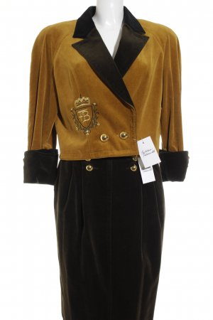 TH. Braun Kostüm mehrfarbig extravaganter Stil