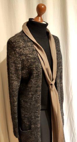 The Barn Manteau en tricot noir-gris brun