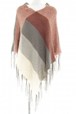 The Barn Strickponcho Streifenmuster Casual-Look