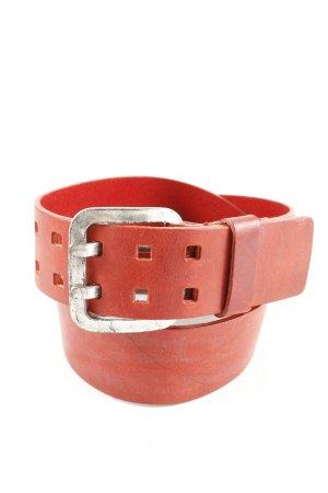 Ledergürtel rot Schriftzug gedruckt Party-Look