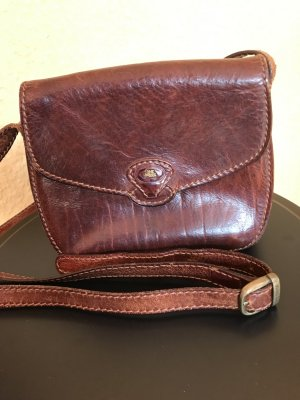 The Bridge Vintage Leder Tasche braun echt Vintage Saddlebag