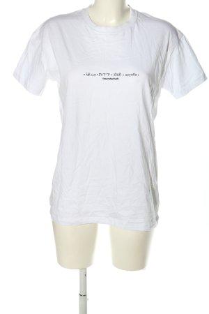 THE COUPLE T-Shirt weiß-schwarz Schriftzug gedruckt Casual-Look