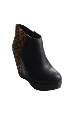 The Divine Factory Ankle Boots schwarz-braun Leomuster