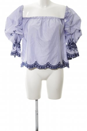 The Editor's Market Carmen-Bluse blau Streifenmuster Casual-Look