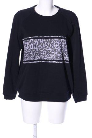 The Fifth Sweatshirt schwarz-weiß Leomuster Casual-Look