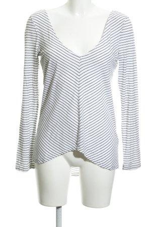 The Fifth Sweatshirt weiß-schwarz Streifenmuster Casual-Look