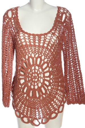 The Fresh Made Brand Pull en crochet brun style décontracté